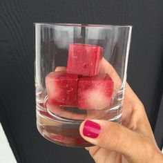 Well these were an unexpected hit at a recent dinner party! Raspberry-honeydew cubes! They added just the right flare to a glass of Famega (Portuguese white wine). But don't stop there...they would also be delightful in a cocktail, a glass of tonic or seltzer. Raspberries are on sale $3.99 for a jumbo 12oz. box. Try mixing them with cantaloupe because those are on sale this week as well, 2 for $4. ... Blend raspberries with a little water or juice and pour into ice cube trays til they're…