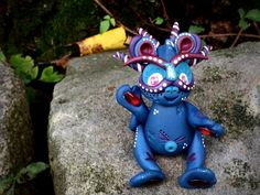 Polymer Clay Dragon 'JUBILEE' - Limited Edition Handmade Collectible by KatersAcres on Etsy