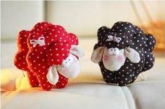Pecorelle in stoffa imbottite – Cartamodello.