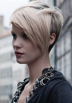short underneath.... this is what I love, love the long bang with super short in the back