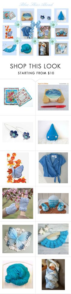 """""""Blue Skies Ahead"""" by cozeequilts ❤ liked on Polyvore"""