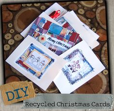 recycle Christmas cards for next year * i did this in college - will have to see if i get any non-photo cards :)