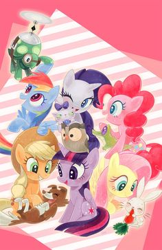 The mane 6 and their pets