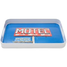 Bob's Your Uncle Motel Pool Tray (72 AUD) ❤ liked on Polyvore featuring home, kitchen & dining, serveware, serving tray, melamine tray, melamine serving tray, melamine serveware and outdoor serveware