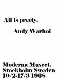 All is pretty | Andy Warhol | Kaart