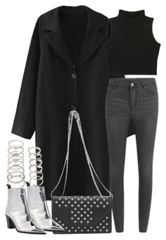 """""""Untitled #7914"""" by nikka-phillips ❤ liked on Polyvore featuring Cheap Monday, Forever 21, Yves Saint Laurent and Acne Studios"""