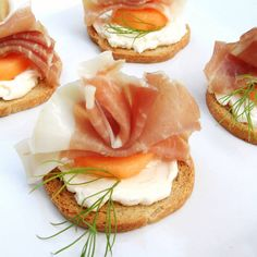 Prosciutto and Melon Crackers and Cheese
