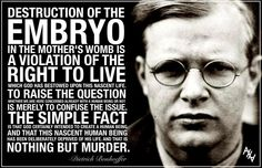 Dietrich Bonhoeffer ...oooo...powerful. (BTW, Dietrich Bonhoeffer was a German Lutheran pastor, poet, theologian, dissident anti-Nazi, martyr,  and founding member of the Confessing Church.)