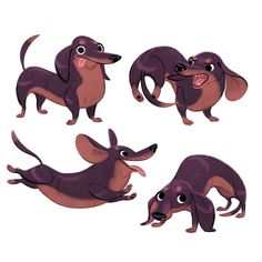Character Design References - Character Design References Cdr Is A Webzine Dedicated To The Art Of Animation Video Games Comics And Illustration And Its The Largest Community Of Character Designers On The Intern Art And Illustration, Character Illustration, Illustrations Vintage, Cartoon Illustrations, Animal Design, Dog Design, Animal Drawings, Art Drawings, Dachshund Art