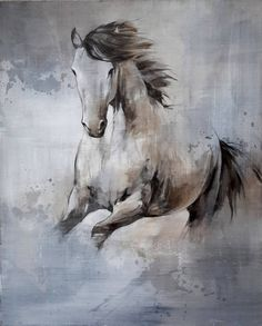 Freedom Art, Original Paintings, Original Art, Watercolor Horse, White Horses, Equine Art, Horse Pictures, Horse Art, Figurative Art