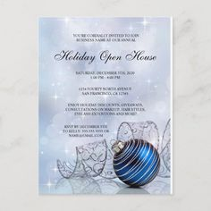 Festive Christmas Or Holiday Open House Invitation #holiday #open #house #invitations #business Holiday Party Invitation Template, Dinner Party Invitations, Christmas Invitations, Invitation Templates, Event Invitations, Christmas Stationery, Printable Party, Flyer Template, Free Printable