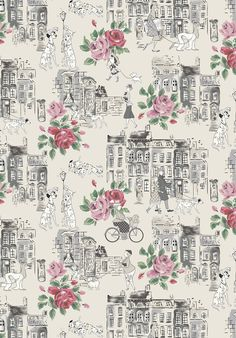 Townhouse Dogs from our upcoming #DisneyXCathKidston 101 Dalmatians collection