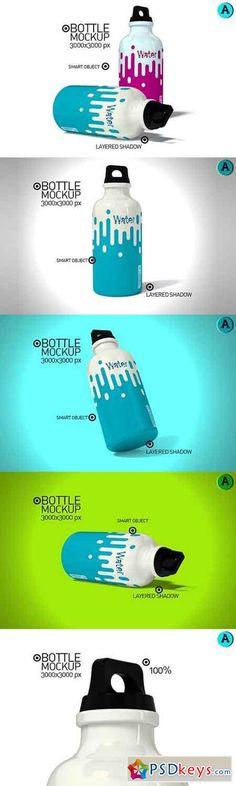 Water Bottle Mock-up 1080441