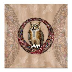 owl shower curtain | Celtic Owl Shower Curtain