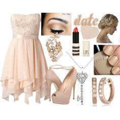 polyvore dresses | date, dress, hairstyles, make up - image #534157 on Favim.com
