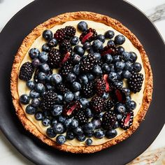 Fresh Fruit Tart with Almond Press-In Crust