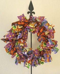 DIY Halloween Decor DIY Halloween Crafts : DIY Halloween Fabric Wreath