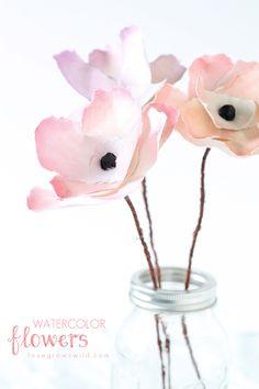 DIY: watercolor flowers