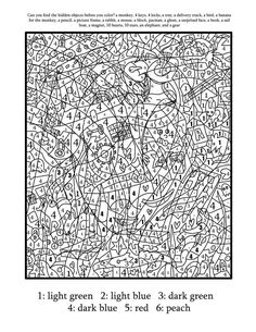 Coloring Pages For Teenagers Difficult Color By Number | Places to ...