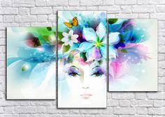 Купить модульные картины цветы + подарок всем!