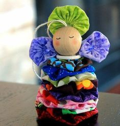 Here is a scrappy little project to transform your favorite fabric scraps into a sweet little folk angel to decorate your home. This Supremely Cute Stacked Scraps Angel is a lovely colorful and folksy piece of Christmas decor. Christmas Angel Crafts, Homemade Christmas Crafts, Holiday Crafts, Christmas Ornaments, Christmas Decorations, Christmas Ideas, Christmas Gifts, Diy Art Projects, Easy Sewing Projects