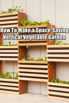 How To Make a Space-Saving Vertical Vegetable Garden - Growing your vegetables vertically has so many benefits over traditional gardening. When you grow vertically, you can a whole bunch of veggies, herbs and flowers, all in a fraction of the space they would normally take up. This is perfect for city dwellers who just don't have the space. #verticalvegetablegardeningideas #urbangardeningvegetables