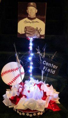 Bar Mitzvah Centerpieces | Baseball Bar Mitzvah | Baseball Centerpiece
