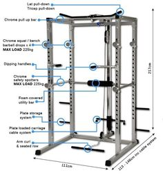Basic Power Rack w/ High/Low Cable Pulley Unit Features