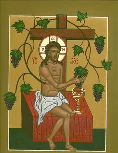 Christ the True Vine icon Religious Pictures, Religious Icons, Religious Art, Byzantine Icons, Byzantine Art, Early Christian, Christian Art, Salvador, Greek Icons