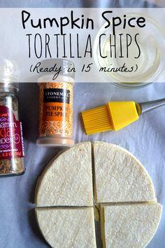 Pumpkin Spice Tortilla Chips