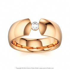 DAVID AND GOLIATH | Solitaire Ring with Diamond vvs1/F in 18k Rose Gold