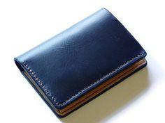 Horween Royal Blue Chromexcel Volant Wallet