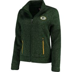 Women's Green Bay Packers G-III 4Her by Carl Banks Green Checkpoint Full Zip Jacket