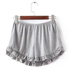 Shorts with a cute ruffle flair, these are perfect for jumping around on lazy…