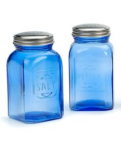 Take a look at this Blue Retro Salt & Pepper Shakers today!