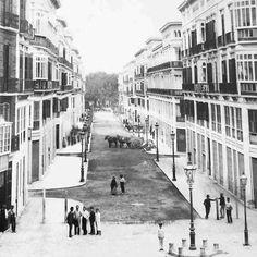 Málaga Antigua. Calle Larios. Año 1900.