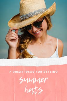 b0f8714f1a619 Take your summer hats from drab to fab with these styling ideas. Simply add  beaded