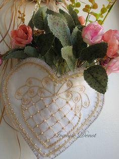 Heart embroidery- Felt