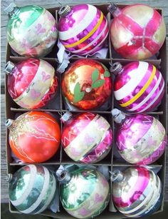 Vintage Christmas Balls - now on a hunt to find some for my tree. I just love these.