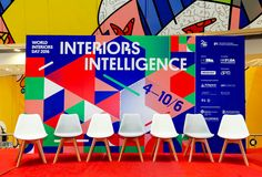 Visual identity for the exhibition of World Interiors Day 2016. Distinctive graphic forms by geometric structure was created with the theme Interior Intelligence.