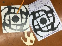 Rotational Symmetry- this is created with a simple 4x4 stencil and placed into a simple format. Each time it is traced, it rotates clockwise.
