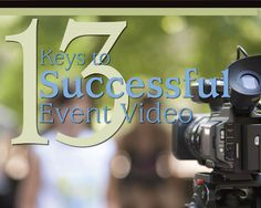 Whether you're shooting a tax seminar, a wedding or a break-dance summit, event video can be some of the most interesting, stressful, exciting, and ultimately rewarding video work you will come across.