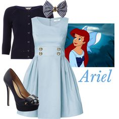 Ariel - Kiss the Girl (Disney Casual Cosplay) Cute Disney Outfits, Disney Themed Outfits, Disney Dresses, Disney Clothes, Disney Bound Outfits Casual, Disneybound Outfits, Disney Dapper Day, Lady Like, Character Inspired Outfits