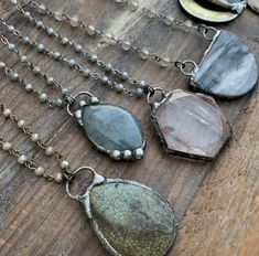 @borneunique Soldered pendants Soldering Jewelry, Soldering Iron, Soldered Pendants, Labradorite Jewelry, Tribal Jewelry, Dog Tag Necklace, Handmade Jewelry, Pendant Necklace, Beauty