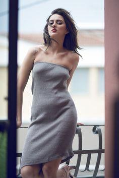 Koufonisi dress 100% organic linen