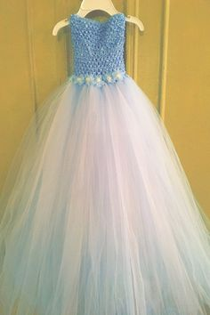 tutu dress, tulle, ribbon  Colors available for bottom tutu-White, Black, Red, Wine, Lt Pink, Orange, Peach, Yellow, Ivory, Brown, Old Gold, Emerald, Mint, Navy, Royal, Light Blue, Purple, Lavender, Fuschia, Aqua, Rose, Pink, Turquoise, Beige, Silver.   Please message me if you are in need of a longer tutu dress. If you are in need of additional embellishments, multiple tulle colors, flowers, ribbons added please send me a message and I can make a listing for you for your custom order.