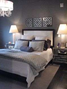 Master Bedroom design idea as seen on www.interiordesignpro.org