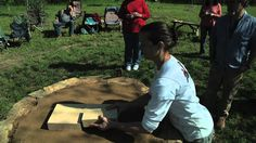Part One shows how to prepare the base and dome mold for building a cob oven.