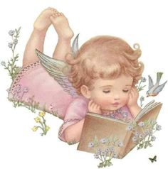 ❤️️️️️️️Little Angel.with your book, How sweet and contented that you look. Is it poetry or just a short story? Lazily lying there, shining in His glory, Rebecca Jones Angel Images, Angel Pictures, Baby Engel, Angel Clipart, I Believe In Angels, Angels Among Us, Guardian Angels, Angel Art, Christmas Angels
