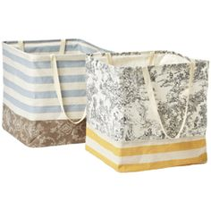 The Container Store > Dual-Pattern Square Crunch Can by Umbra® - love these for loads of laundry